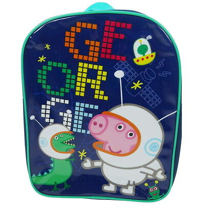 NEW OFFICIAL Peppa Pig George Boys / Kids Backpack / Rucksack / School Bag