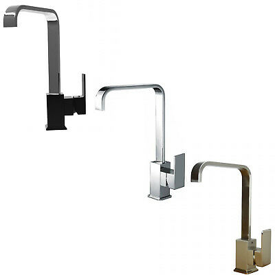 ENKI Italian Designer Square Kitchen Sink Mixer Taps Swivel Spout New MILAN
