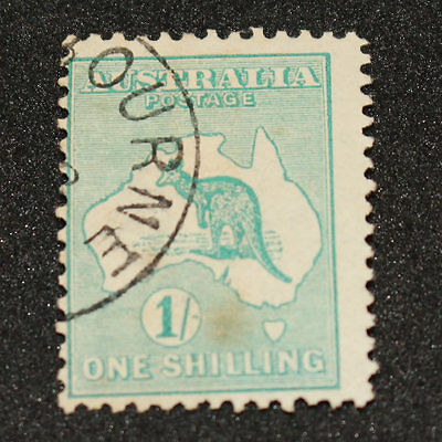 1913 Kangaroo 1/- 1 Shilling Cancelled To Order Inverted Watermark BW30wb
