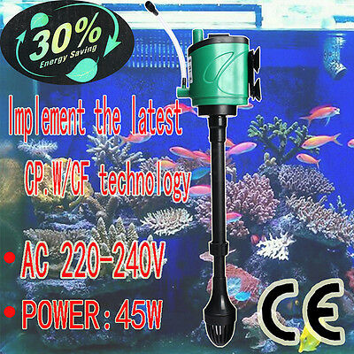3200 L/h 3 en 1 Multi-Function Aquarium Pompe De Filtration Interne Pour Tank