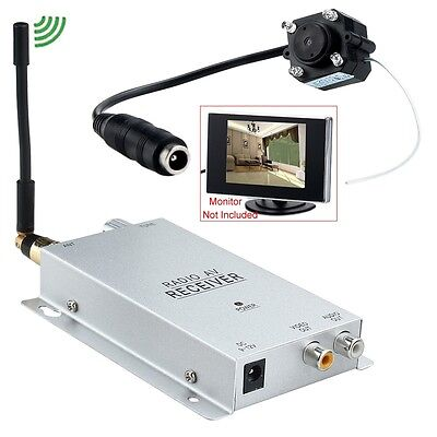 New Long Distance 1.2GHZ Wireless A/V Audio Camera W/ Transmitter Receiver Set