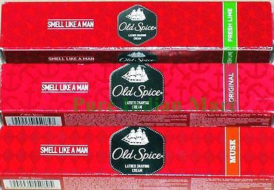 Old Spice Lather Shaving Cream Original Musk Fresh Lime 30g 70g