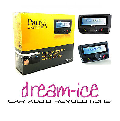 PARROT CK3100 Bluetooth hands free car kit with LCD display Black Edition NEW