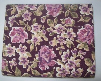 100% Cotton Floral Plum Fabric Traditions FQ Fat Quarter Pre-washed OOP?