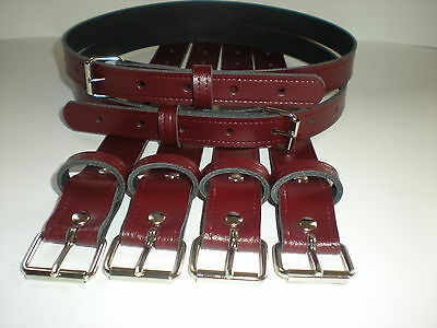 Coach built vintage pram real leather suspension straps in burgundy