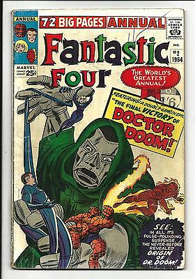 Fantastic Four Annual # 2 (All Dr. Doom Issue, 1964), Vg