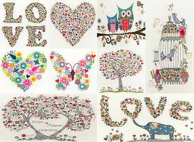 Bothy Threads LOVE KIM ANDERSON Cross Stitch KITS 10 DESIGNS HEART TREE BABY