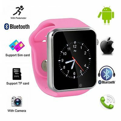 Bluetooth Smart Wrist Watch Touch Screen Phone Mate for Android iPhone IOS A1