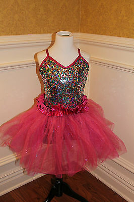 2-in-1 Pink Dance Costume by Curtain Call - Dance Medley - Style E1000
