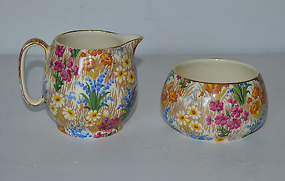 Royal Winton  Grimwades Marguerite Pattern Creamer ,Sugar Bowl Set