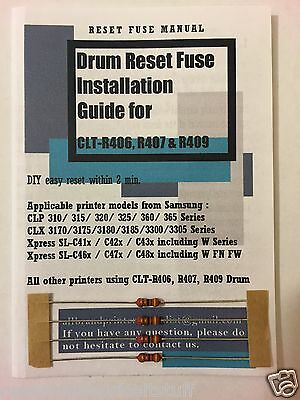 Quad Pack DIY Drum Reset Kits for Samsung Xpress SL-C430W SL-C480FN C480FW R406
