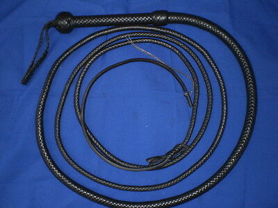 movie style whip 12 plait beveled 12 ft bullwhip whips bullwhips BLACK