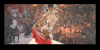 Affiche Offset Blacksad Jazz'n fun's club Granit Editions