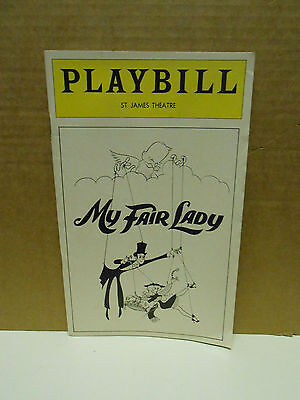 Vintage My Fair Lady Playbill  October 1976