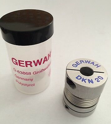 New GERWAH DKN 20 Backlash Free Metal Bellows Flexible Coupling Coupler Germany