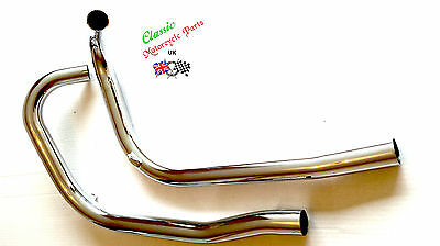 New Triumph Pre Unit Tiger T100 1954-1957 Exhaust Pipes 70-3346/70-3349 Uk Made