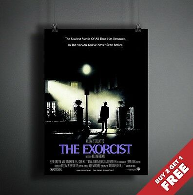 THE EXORCIST 1973 MOVIE POSTER A3 A4 * Best Classic Vintage Horror Movie Print