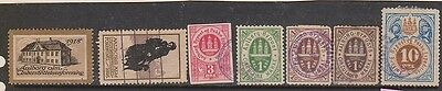 (IE19) 1910-20 AAlborg 7stamps (non recognized country)