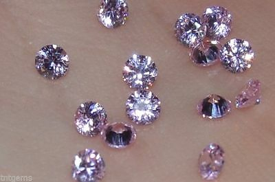 ***Flawless***3mm IF Brilliant Cut Simulated Pink Diamonds