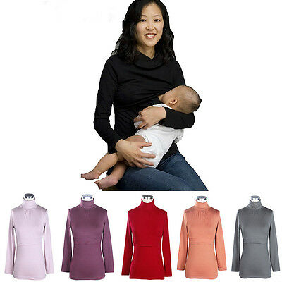 Long Sleeves Fall&winter Maternity Breastfeeding Clothes Cute Nursing Tops&Tee
