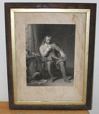 Large 19th Century Framed Lithograph 60cm x 75cm, Europe
