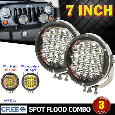 2Pcs 7Inch 540W Cree Led Spot&flood Driving Light Bar Replace Hid 4X4Wd Ute Suv