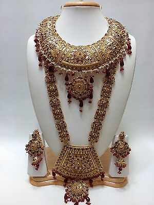 Indian 7 Piece Large Bridal Necklace Set