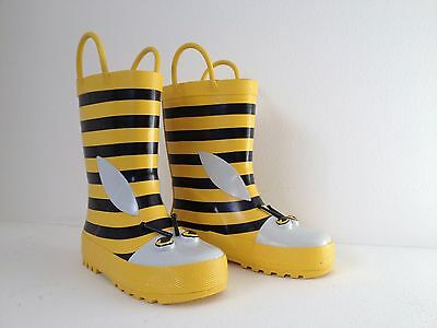 Kids Gumboots Cute Bee Size 5 6 7 8 9 10 11 12 Wellies Childrens Child Free Post