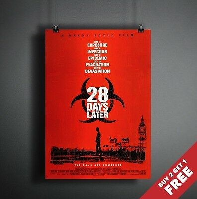 28 Days Later 2002 Movie Poster A3 A4 * Classic Horror Thriller Film Print