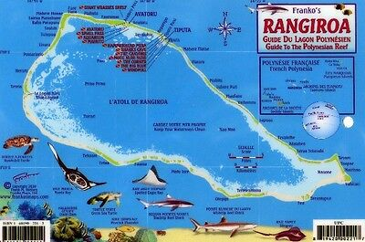 Rangiroa Dive Map & Reef Creatures Guide Laminated Fish Card by Franko Maps