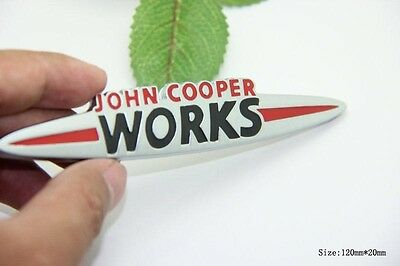 D678 John Cooper Works auto aufkleber 3D Emblem Badge Plakette car Sticker Mini