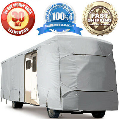 4-Layer Trailer RV Motorhome Camper Storage Cover Outdoor Winter Protection Gray