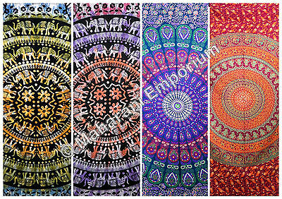 10 Pcs Wholesale lot Queen Size Mandala Tapestries Wall Hanging Hippie Tapestry