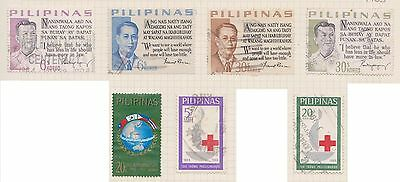 (LV-10) 1963 Philippines 13mix of stamps new currency partial set