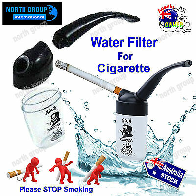 3 x Water Smoking Tobacco Pipe Cigarette Filters reduces tar nicotine filter
