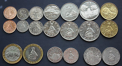 Zimbabwe High Grade Set Of 10  Coins - 1 Cent To 25 Dollars - Best Price!