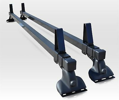 To Fit 2007 - 2016 Citroen Dispatch Steel Black Roof Rack Bars x2 + Load Stops