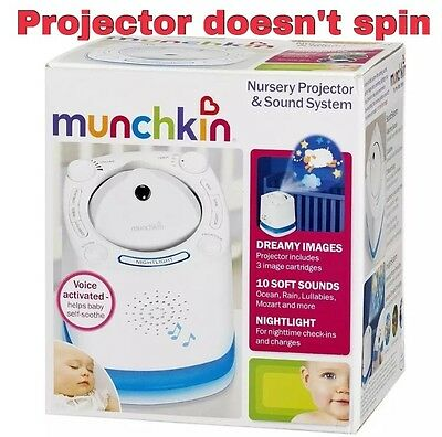 Munchkin Nursery Projector & Sound System; White PROJECTOR DOES NOT SPIN