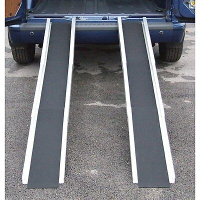 Folding Telescopic Lightweight Wheelchair Travel Mobility Scooter Channel Ramps