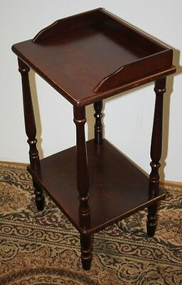 Vintage Mahogany Two Tier Plant Stand / Lamp Table - FREE DELIVERY [PL1304]