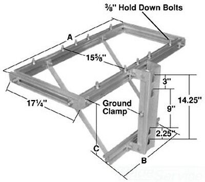 AB Chance Hubbell CCR-3 POLELINE HARDWARE CAPACITOR RACK NEW