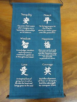 Mini Inspirational Affirmation Wall Hanger Scroll Banner Turquoise