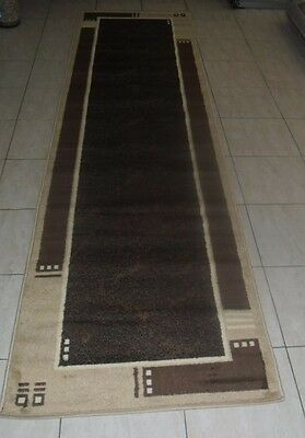 New Brown Modern Floor Hallway Runner Rug 80X300Cm