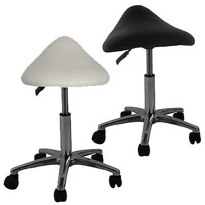 White/Black Medical Hairdressing Beauty Tattoo Salon Saddle Stool Gas Lift