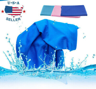Ice Cold Instant Cooling Towel Running Jogging Gym Chilly Pad Sports Yoga US