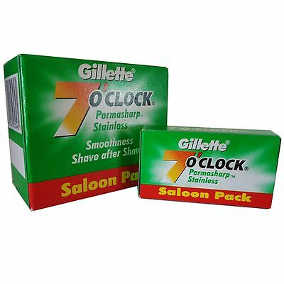 Gillette 7 O'Clock PERMASHARP Stainless Saloon Blades Pack Most Economical !