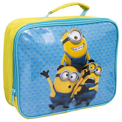 NEW OFFICIAL Despicable Me Minions Boys Girls Kids Cool Bag Lunch Box Lunchbag