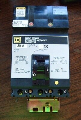 Square D Circuit Breaker 3 Pole 20 Amp 480 V Fc34020