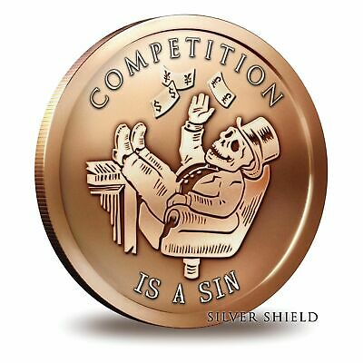 2019 Silver Shield Bankster Series Competition Is A Sin 1 oz Copper USA BU Round