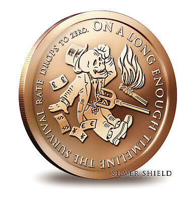 2014 Silver Shield The End Of The Line 1 oz .999 Copper BU Round - USA COIN